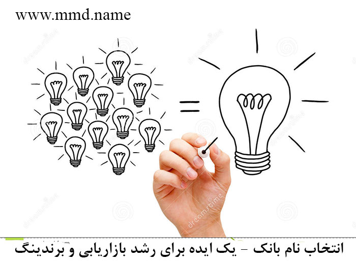 انتخاب نام بانک - یک ایده برای رشد بازاریابی و برندینگ . بهترین نام برای یک بانک ایرانی