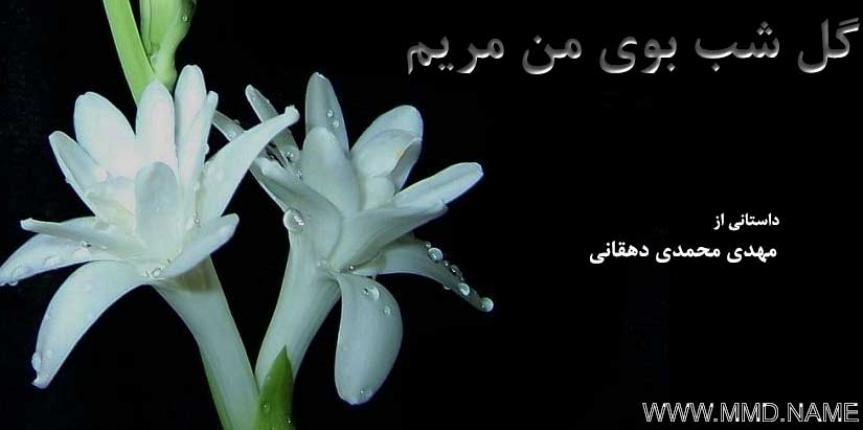 گل شب بوی من مریم – تجلی عشق یک داستان کوتاه عاشقانه می باشد که ترکیب می کند رویای کودکی را با عشقی که در هر انسان وجود دارد. داستان کوتاهی از مهدی محمدی دهقانی